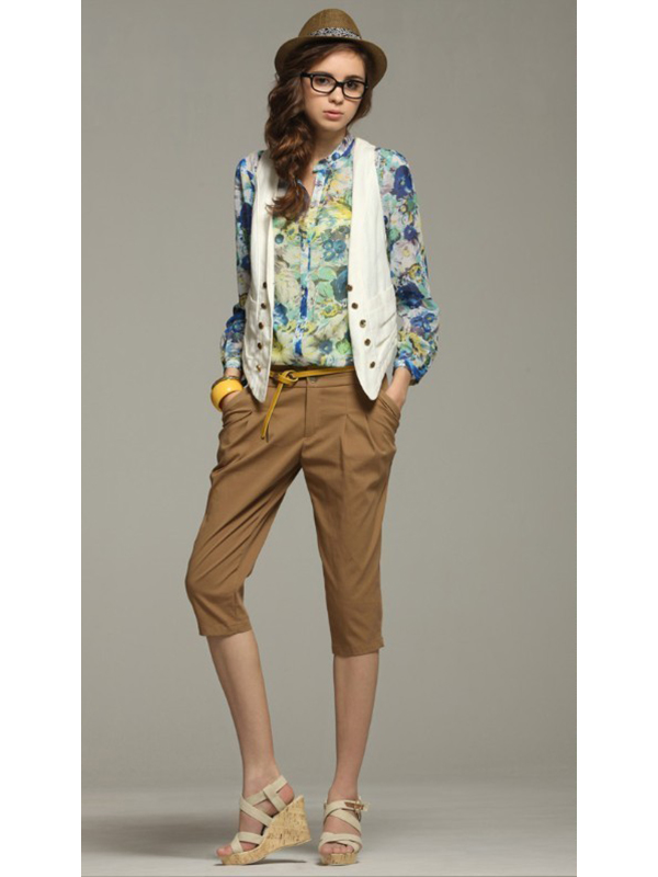 Prints Slim Notch Lapel Regular Sleeve Regular Fashion Shirt : KissChic.com