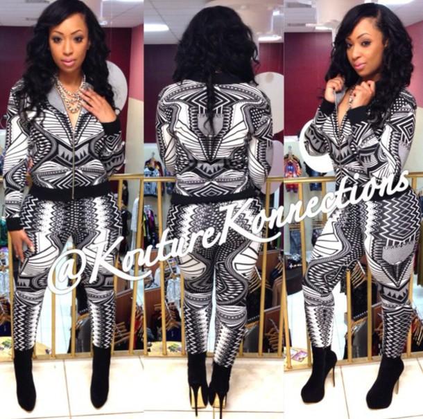 pants tribal pattern