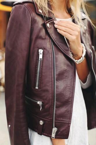 jacket leather jacket burgundy burgundy jacket zip