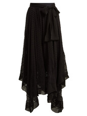skirt,silk,black