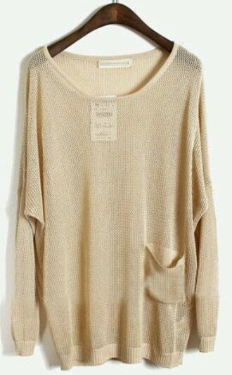 sweater cream sweater oversized sweater oversized cute sweaters shirt