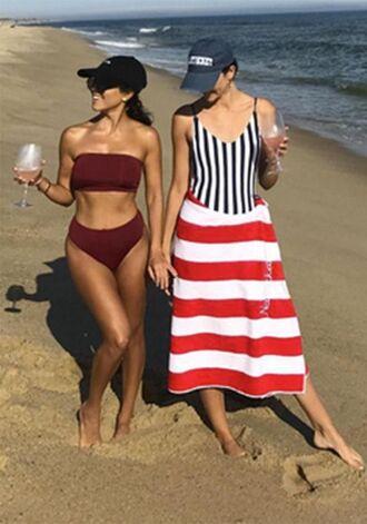 swimwear bikini bikini top bikini bottoms two-piece kourtney kardashian kardashians beach