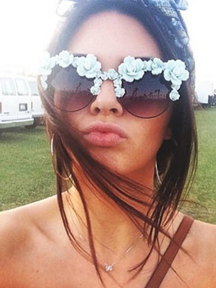 pastel floral cute sunglasses celebrities