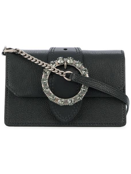 mini women embellished bag mini bag black