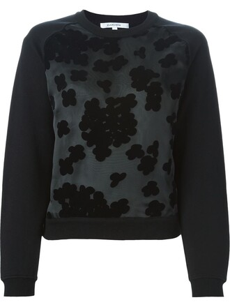 sweatshirt embroidered black sweater