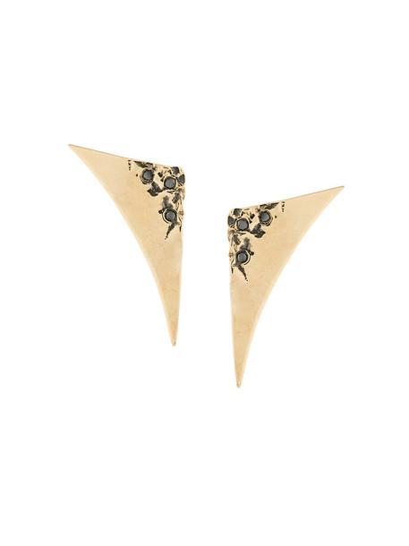 Uhuru triangle women earrings gold black grey metallic jewels