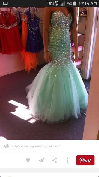 dress blue dress prom dress mermaid prom dress sparkley sparkly dress poofy dress