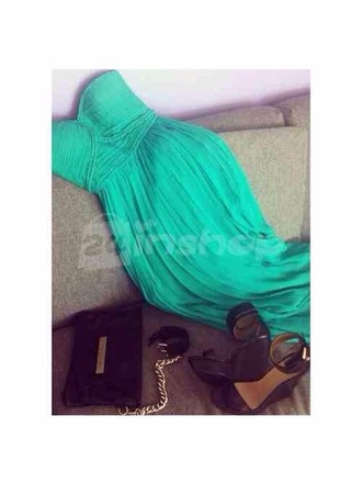 dress teal maxi gorgeous emerald maxi dress prom dress