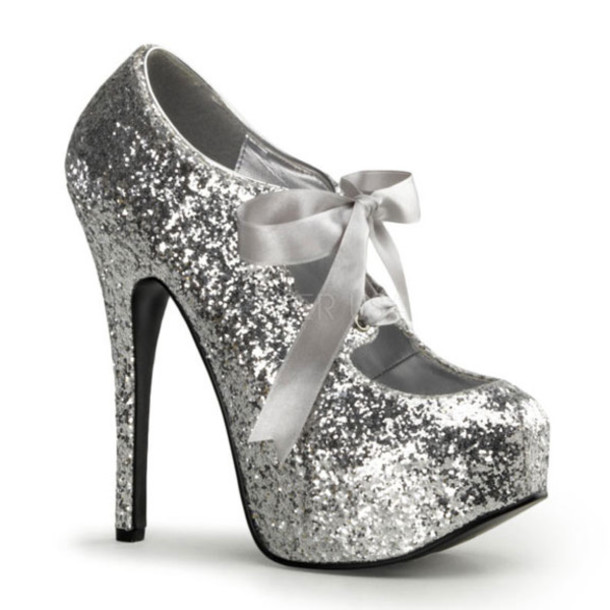 shoes glitter pumps