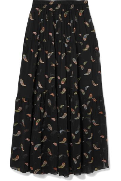 Chloe skirt maxi skirt maxi jacquard black