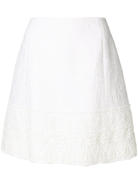Dolce & Gabbana skirt lace skirt women jacquard lace white cotton silk