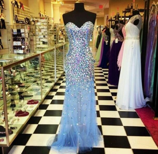 dress sparkle sequin dress blue dress