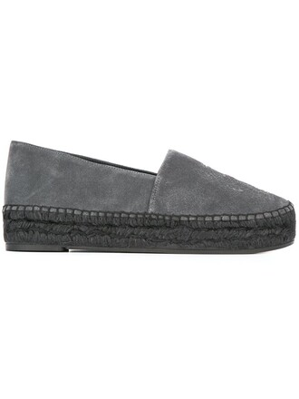 tiger espadrilles grey shoes