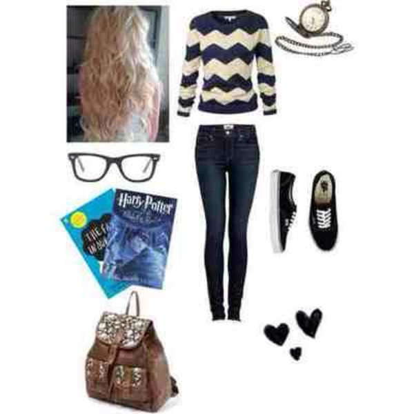 jeans shoes jewels bag shirt