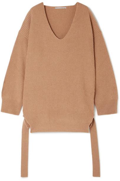 Stella McCartney sweater oversized wool camel