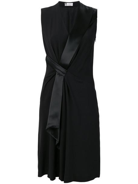 lanvin dress midi dress women midi black