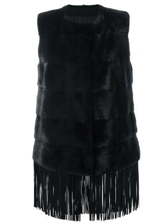 jacket sleeveless black