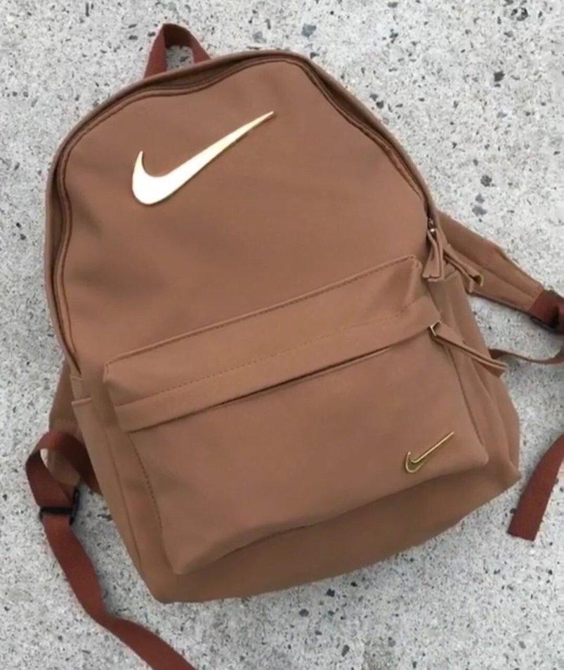 bag nike backpack black tan grey brown back to school school bag