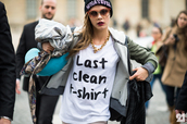 t-shirt,black,white,black and white,cara delevingne,streetstyle,streetwear,hat,jacket,sunglasses,shirt,last clean t-shirt