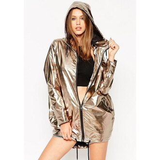 coat clothes women girl love trendy fashion jacket holographic gold hoodie zip hipster dope swag zaful asos metallic mirror outerwear outfit top streetstyle