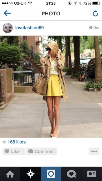 skirt yellow yellow skirt