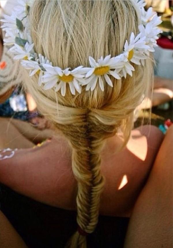 hat jewels daisy flowers flower headband hippie headband flower hair