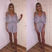 romper,steal her look,miss guided,plt,asos,festival,festival dress,fblogger,blogger,blogger style,sexy playsuits,cute playsuits,off shoulder playsuits,long sleeve playsuits