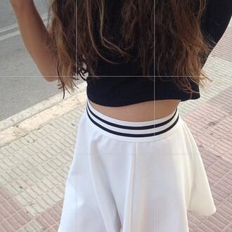 skirt cute spring girl grunge black and white skirt