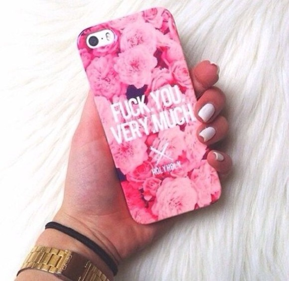 floral pink pink flowers phone case case case for iphone 4/4s/5 pink case iphone cute cases
