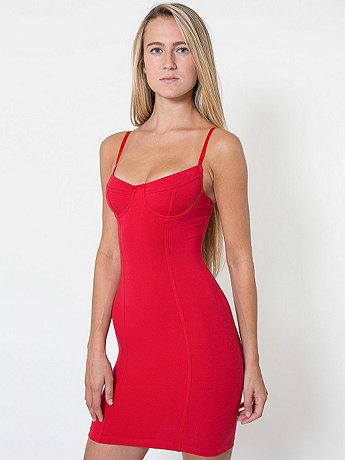 Cotton spandex jersey underwire bustier dress
