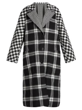 coat wool white black