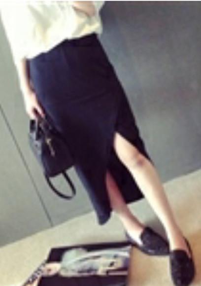 midi skirt slit skirt