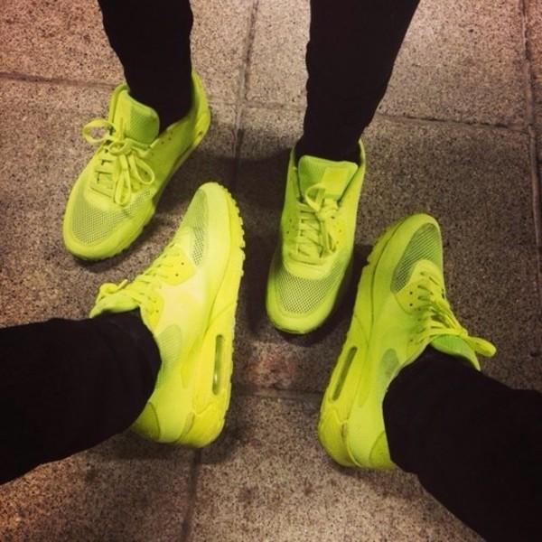 shoes nike neon air max