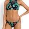 Hot sale multicolor floral cut away bikini top and bottom