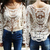 Beige lace long sleeve shirt from Whitelily Fashion on Storenvy