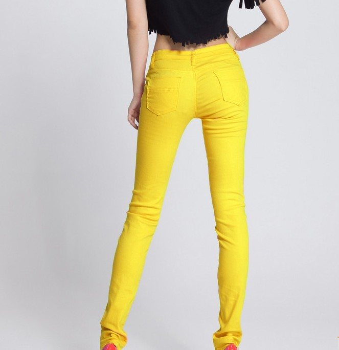 7bef2e455 Womens Stretch Candy Pencil Pants Casual Slim Fit Skinny Jeans Trousers 24  Color
