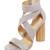 Splendid Jara Heeled Sandals - Light Grey