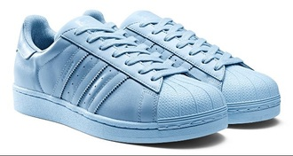 adidas supercolor light blue pastel sneakers pharrell williams