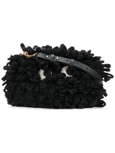 Anya Hindmarch eyes women bag crossbody bag black wool