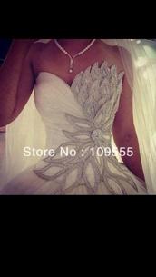 dress,blingy white wedding dress with mermaid bottom