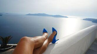 shoes breckelle's zooshoo zooshoo shoes zooshoo heels heels pumps blue heels blue shoes royal blue simple heels mid high heels
