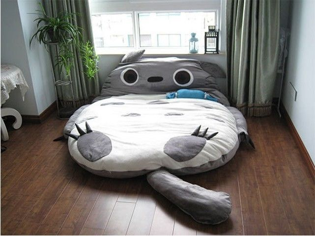 New Huge Cute Cartoon Totoro Double Bed Sleeping Bag Doll Toy Pad Sofa 310 180cm | eBay