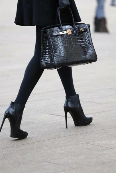shoes heels black heels black boot heels chanel boots bag