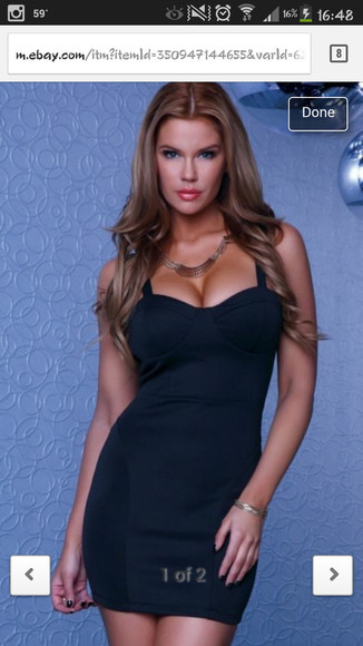 little black dress bustier dress