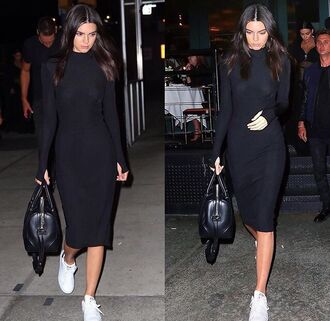 dress black dress kendall jenner streetstyle kardashians kendall and kylie jenner long sleeves long sleeve dress midi dress midi bodyocn bodycon bodycon dress celebrity celebrity style celebstyle for less party dress sexy party dresses sexy sexy dress party outfits winter dress fall dress fall outfits girly girly dress cute date outfit birthday dress romantic dress clubwear club dress little black dress