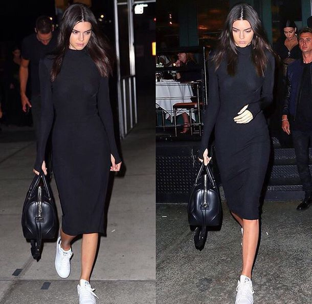 dress black dress kendall jenner streetstyle kardashians kardashians kendall and kylie jenner kardashians long sleeves long sleeve dress midi dress midi bodyocn bodycon bodycon dress celebrity celebrity style celebstyle for less celebrity party dress sexy party dresses sexy sexy dress party outfits winter dress fall dress fall outfits girly girly dress cute date outfit birthday dress romantic dress clubwear club dress little black dress