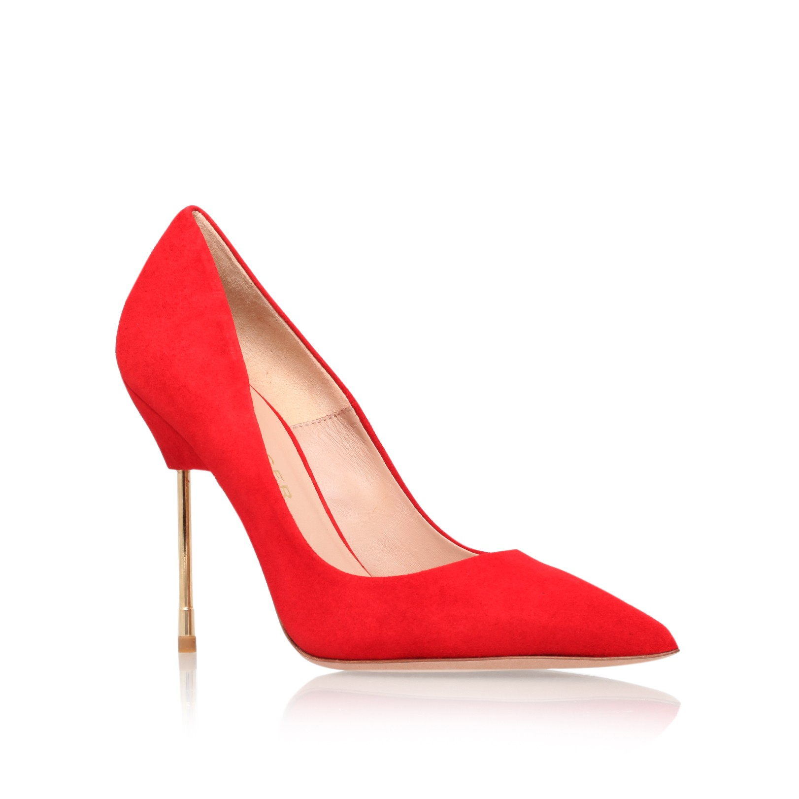 Kurt Geiger | BRITTON Red court shoe with stiletto heel by Kurt Geiger London
