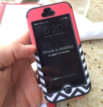 phone cover pink iphone 5 case iphone case chevron black and white girly cute