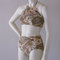 Regency paisley high neck halter top and high waist retro bottom bikini made to order in s.m.l.xl
