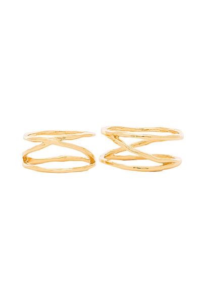 gorjana Isla Ring & Midi Set in gold / metallic